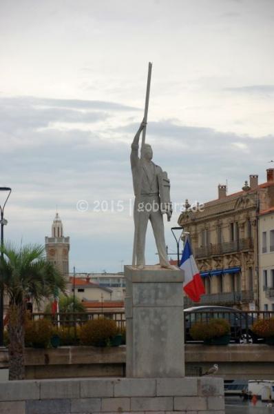 Statue der Fischerstecher in Sète